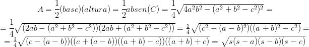 Demostrando el teorema de Pitágoras con la fórmula de Herón