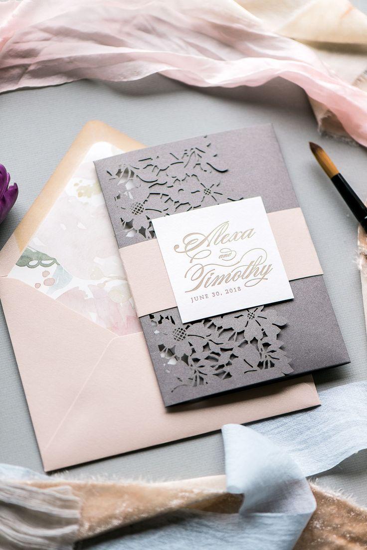 8ab8f84e3eb51 LAUREN Wedding Invitation Suite in 2019 | Elegant Rustic Weddings ...