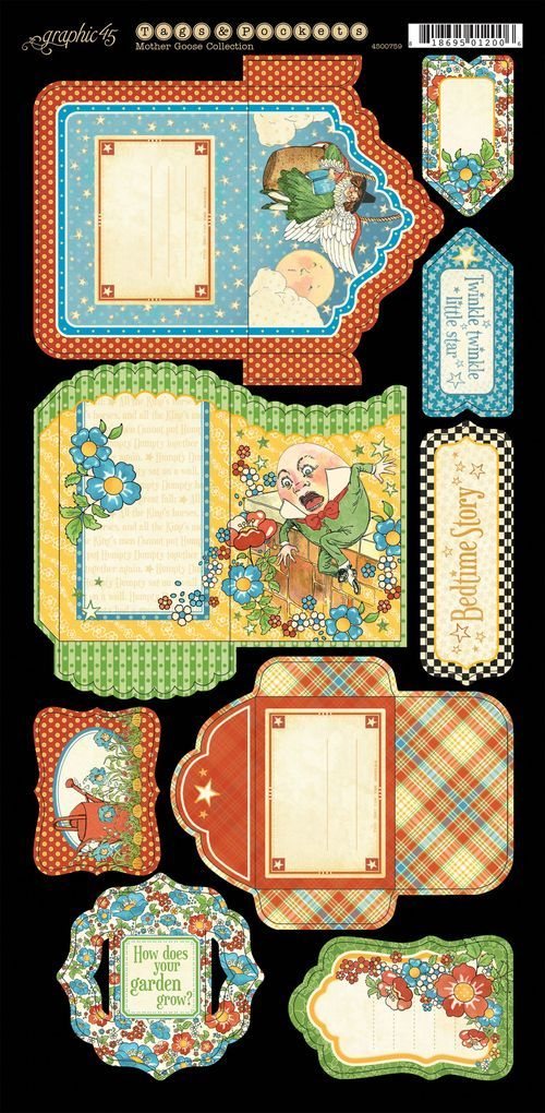 The Tags & Pockets 1 from our new collection: Mother Goose! #graphic45 #newpapercollection