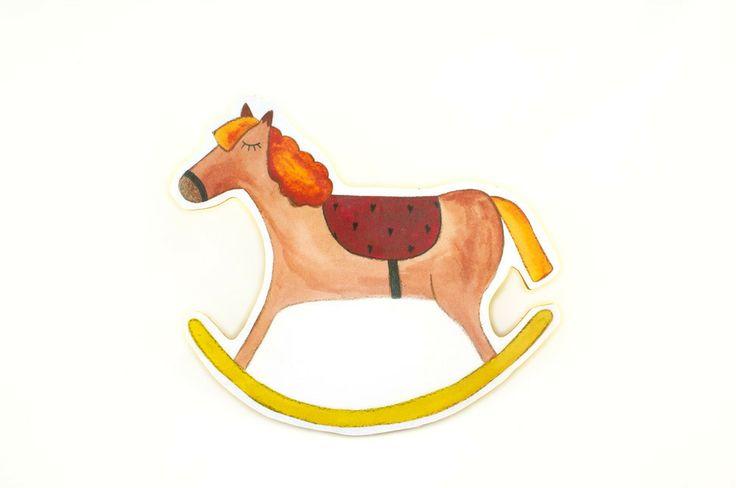 Pferd als Bild, Aufsteller oder Kleiderhaken - Kinderzimmerdekoration – Fräulein Gelb