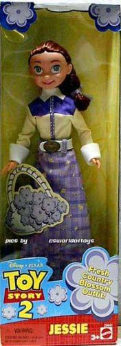 2000 Mattel Disney Pixar Toy Story 2 10 Jessie Doll - Fresh Country Blossom Outfit