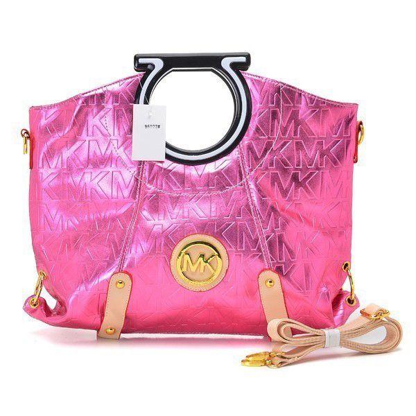 Michael Kors bags and Michael Kors handbags Michael Kors Berkley Logo Large  Pink Clutch 84