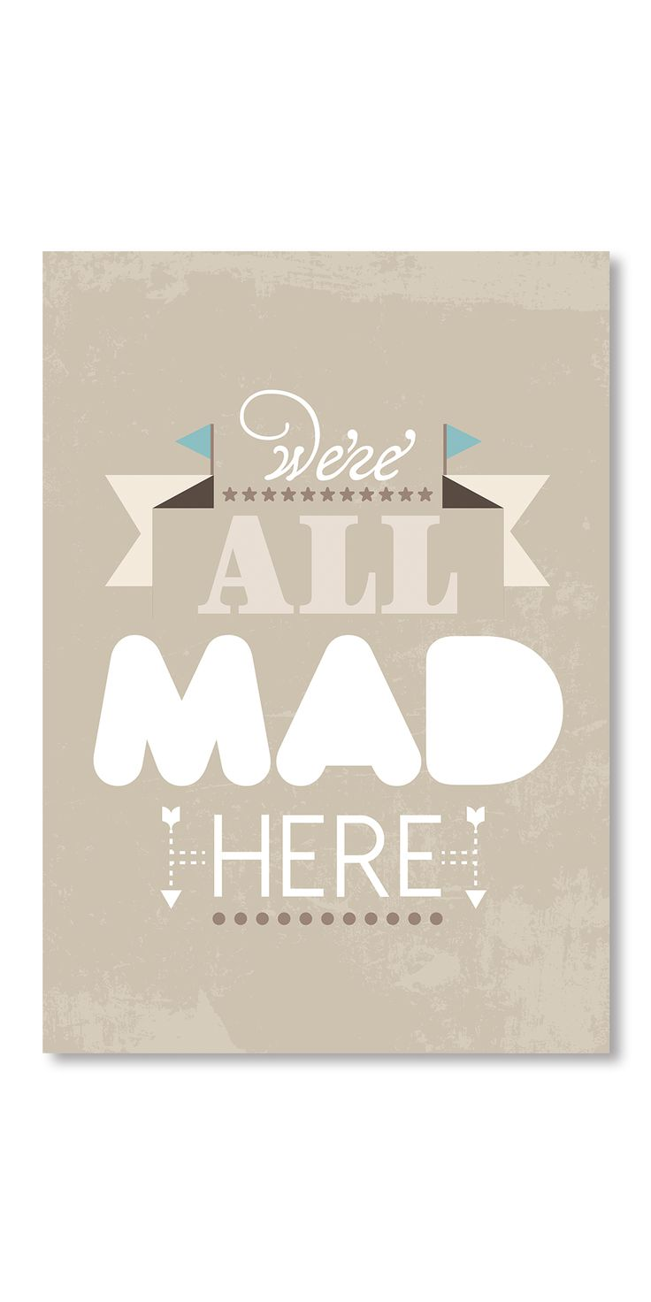 Poster Cheshire Cat Quote