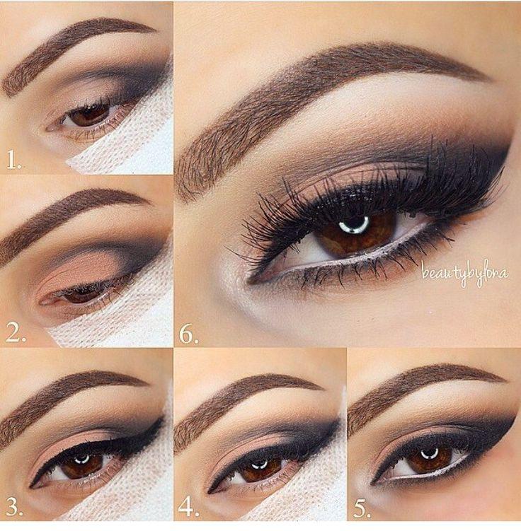Очень красивый макияж для карих глаз