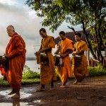 Photo: Alms Giving on Don Khong Island, Laos