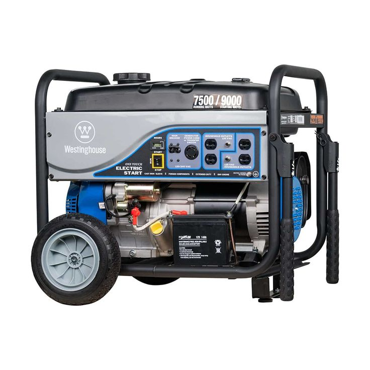 Westinghouse WH7500E Portable Generator Generator at Home