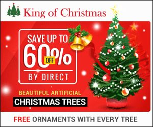 King of Christmas for artificial prelit christmas trees.  Each tree comes with free ornaments!
