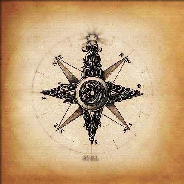 Compass Tattoos For Women | tattoo # hip tattoo # waist tattoo # ink