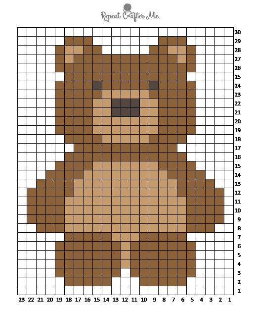 Crochet C2C Bernat Blanket Bear - Repeat Crafter Me
