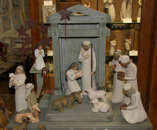 "My favorite Christmas decoration! This belongs on my ""products I love"" page too. I LOVE LOVE this nativity set. I don't have the wise met or shepherds... just the barn setup, animals and holy family."