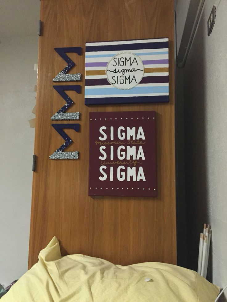Tri Sigma Missouri State #canvas #craft #sigmasigmasigma #biglittle