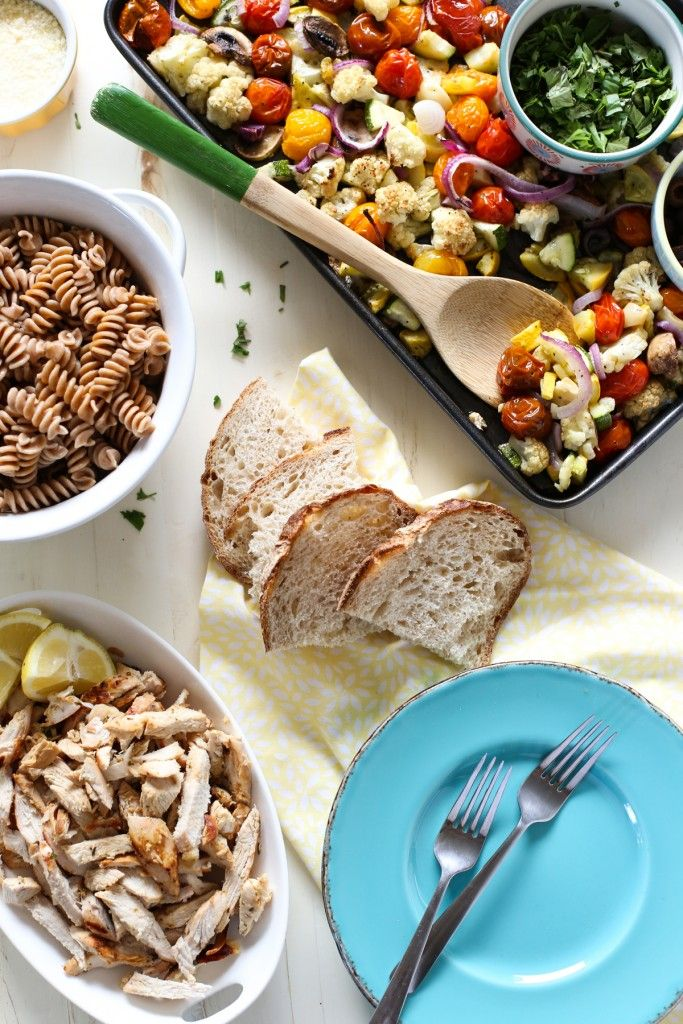 Create Your Own Sheet Pan Pasta Bar - Live Simply