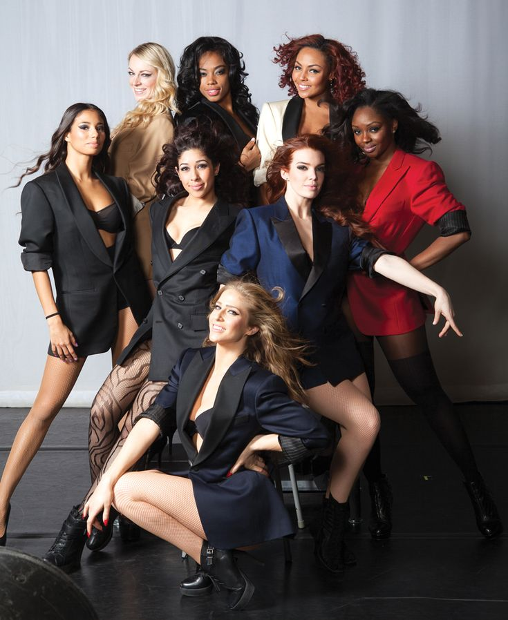 "Beyonce's  Background Dancers:   (Back row, L to R) Hajiba Fahmy, Hannah Douglass, Kimmie Gipson, Ashley Everett, Tanesha ""KSYN"" Cason; (Middle) Amandy Fernandez, Kim Gingras; (Bottom) Sarah Burns (by Erin Baiano)"