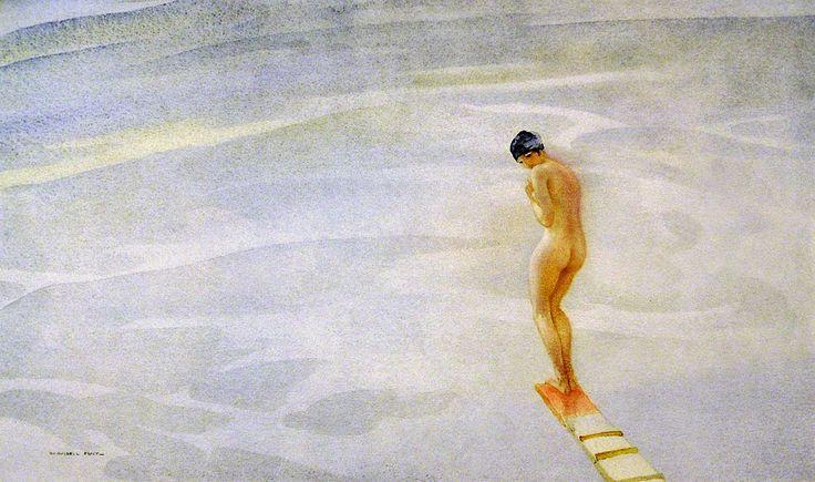 William Russell Flint (1880-1969), Spring Board.