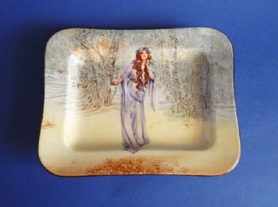 Royal Doulton Shakespearean Series 'Ophelia' Melbourne Sandwich Tray D3596 c1912