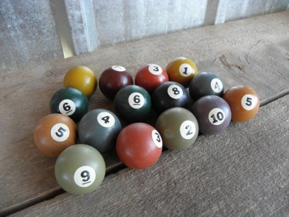Vintage Toy Billiard Balls For Pool