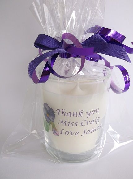 Personalised scented candle gift