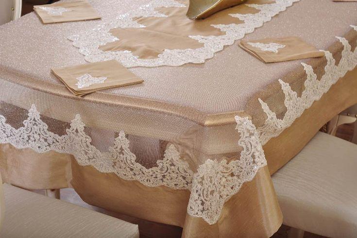 Alanur Masa Takımı , Table Cloth, www.evlen.com.tr