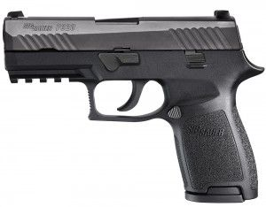 SHOT Show New Guns: Sig P320 Review Unveiled at SHOT Show 2014, the Sig P320′s hammer-less, striker-fired design is out of character for Sig, but what's really remarkable is you basically get two handguns in one, thanks to interchangeability from a full-sized service pistol to a shorter-barreled compact concealed carry gun.