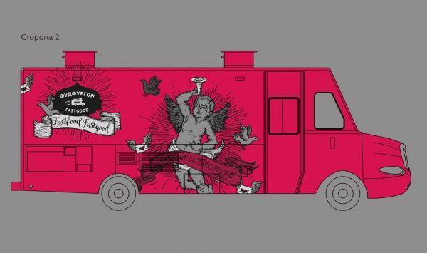 Графические принты на фуд-фургоны Ginza Project   GoDesigner