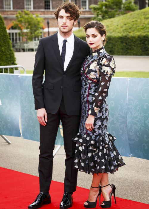 """melissagold: """" Jenna Coleman and Tom Hughes at the screening of ITV's Victoria (11.08.16) """""""