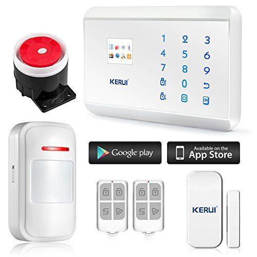 KERUI – 8218G Kit Antivol Camping Car Caravane Alarme Sans Fil Clavier Téléphonique GSM PSTN/RTC Appel 99zones: GSM Alarm Control Panel…