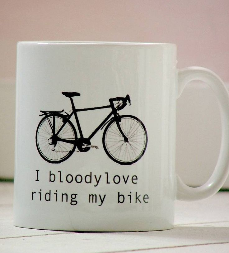 'i bloody love riding my bike' mug by kelly connor designs knitting bags and gifts | notonthehighstreet.com