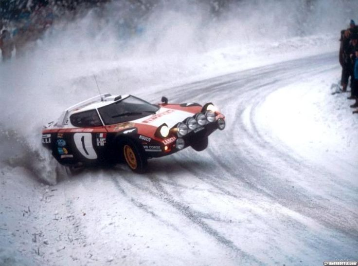 Lancia Stratos pulling some heroic shit!
