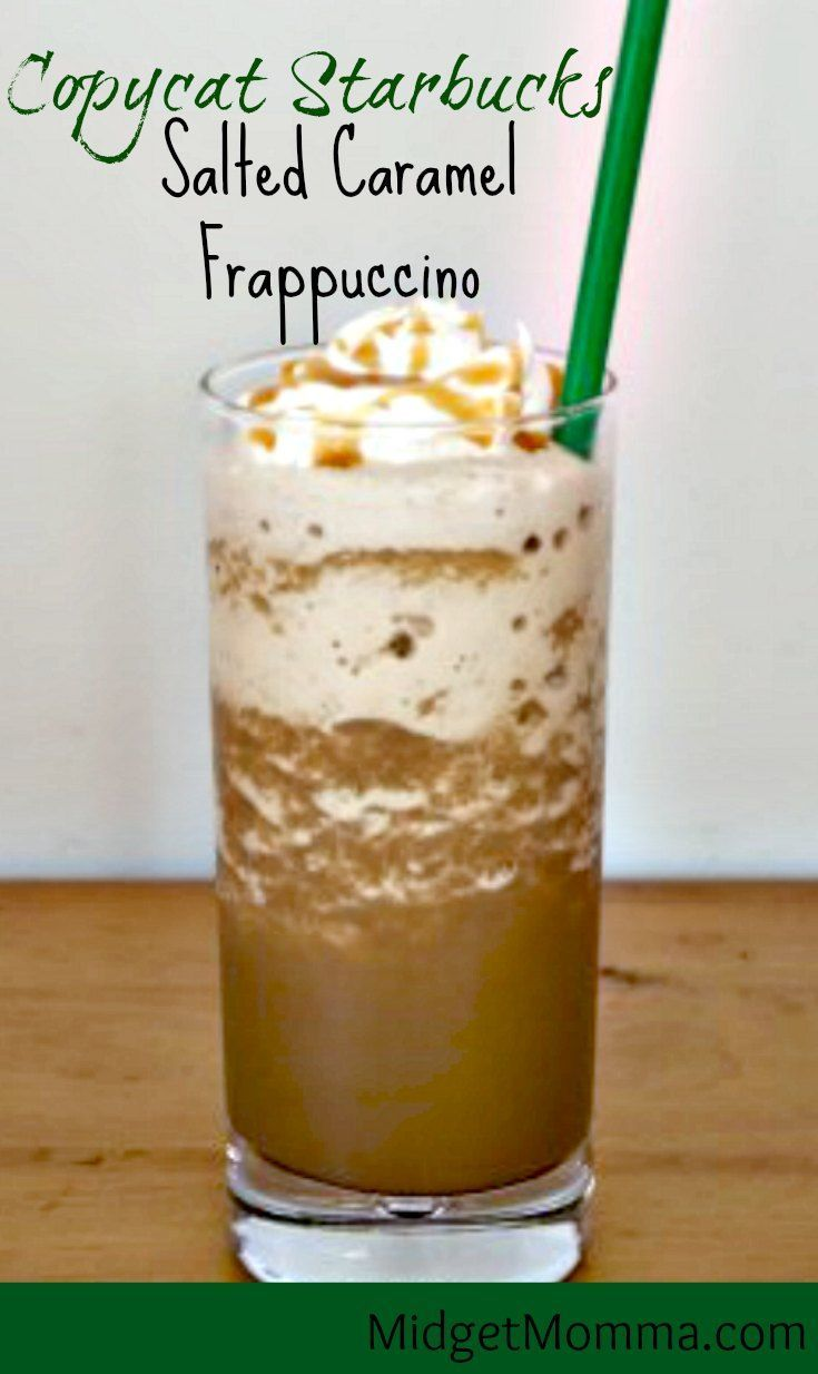 Salted Caramel Frappuccino Starbucks Drink Copycat recipe that is easy to make at home and tastes just perfect! This is my Salted Caramel Frappuccino Starbucks Drink Copycat version, which I am sure you are going to love!!