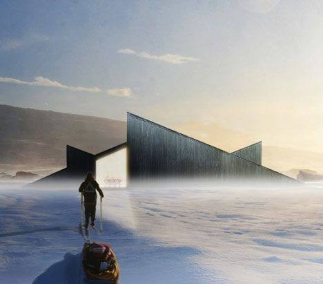 Norwegian mountain lodge with sloping roof you can ski over - Designed by Fantastic Norway.