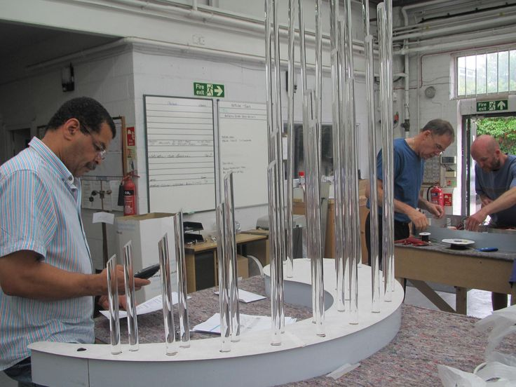 Bespoke installation being assembled and tested on the factory floor
