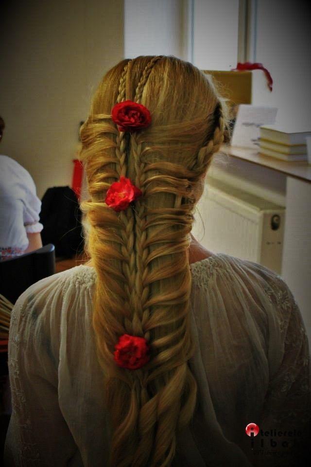 A gorgeous princess hairstyle.