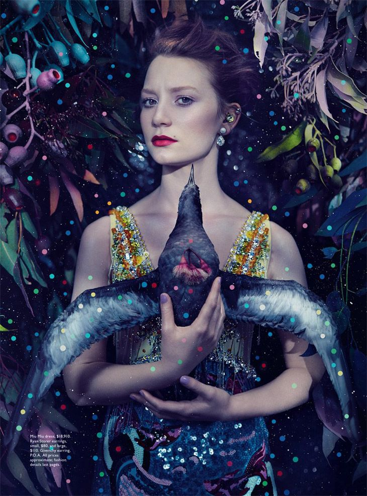 I am absolutely, completely, totally obsessed with this...Vogue Australia: Mia Wasikowska Photographed by Emma Summerton