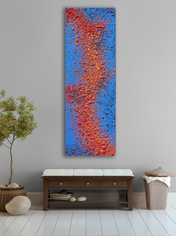 My Artwork -Orange and blue Lave abstract Painting, - Large CUSTOM Nature Wall Art Painting - On ETSY: https://www.etsy.com/listing/92201823/orange-and-blue-lave-abstract-painting?listing_id=92201823_slug=orange-and-blue-lave-abstract-painting