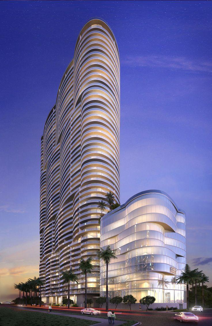 ARIA ON THE BAY: Desde lo más alto, un increíble vista de 360° #SantiagoElegante_AriaOnTheBay #SantiagoElegante #DesignDistrictMiami  #Miami  #RealEstate