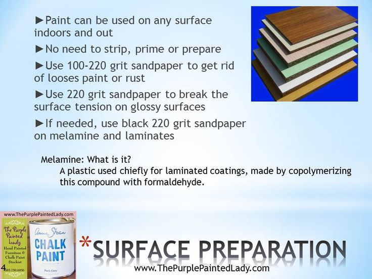 Can you use Annie Sloan Chalk Paint on (mélamine ) laminate cabinets? This helpful site explains the how to !!