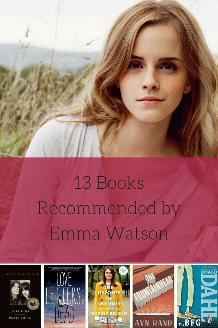 13 Books Recommended by Harry Potter Star Emma Watson. Actress Emma Watson is a known bookworm just like her Harry Potter character, Hermione Granger.