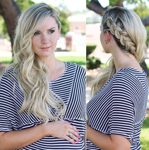 Superb 1000 Ideas About French Braid Waves On Pinterest Braided Waves Hairstyle Inspiration Daily Dogsangcom