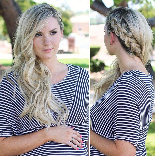 How To: Dutch Braid/French Braid + Side Swept Curls