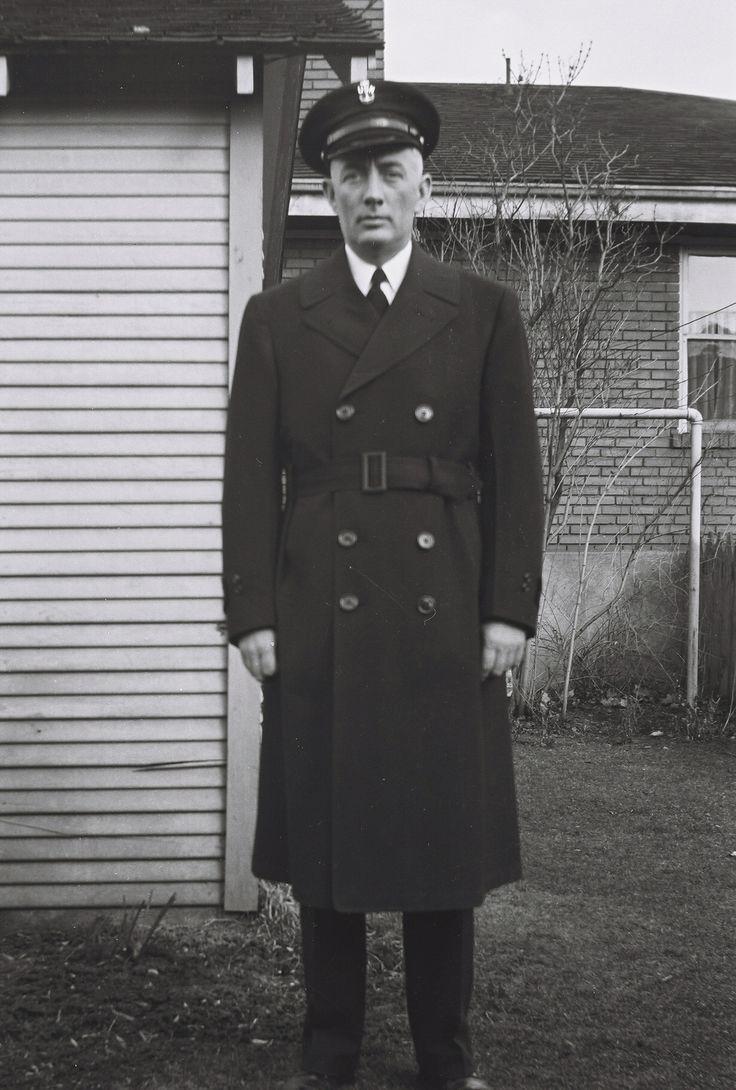 Day 4 Genealogy Pinterest Challenge Robert H. McCune Navy Recruiter World War II.