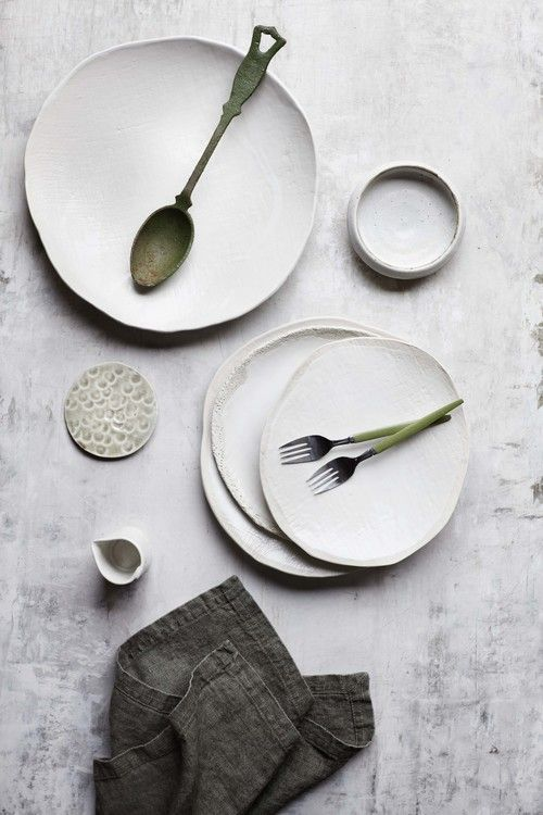 Hand Made plates / ceramics / color inspiration / black and white / monochromatic / texture / pattern / nature / art /