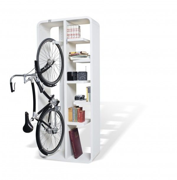 37 best bike racks images on pinterest bicycle hanger Bicycle bookshelf