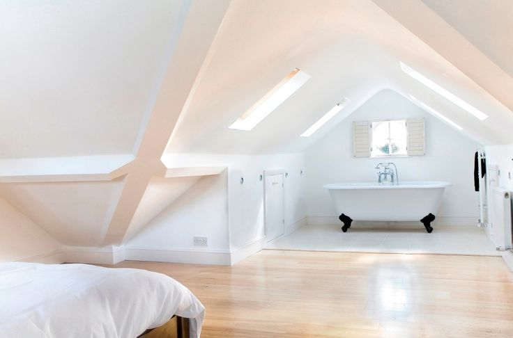 101 Loft/Attic Conversion Ideas Because a simple loft ladder could lead to something amazing! http://www.ladders-online.com/uk/loft-ladders.html *// Number: 2 * *Idea Type:* Loft Bathroom *Idea Details:* Spare Bedroom and Bathroom in the attic! *Idea Difficulty:* Hard #loftconversion#atticconversion #diy