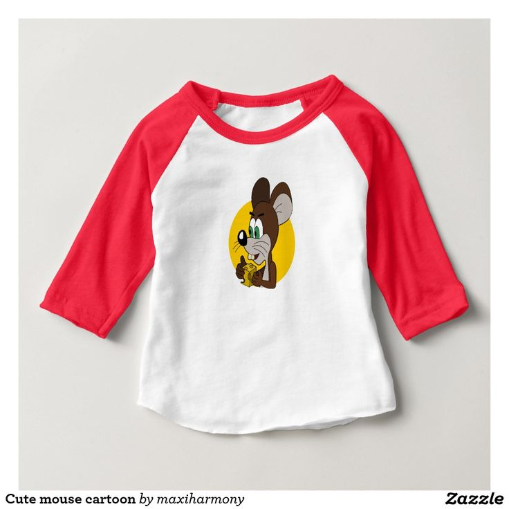 Cute mouse cartoon t-shirt