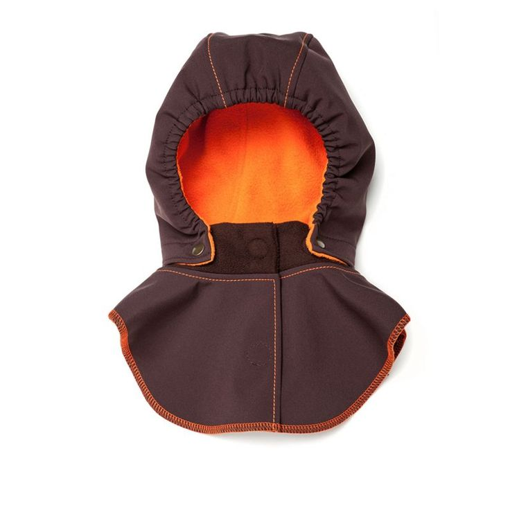 Baby Hood & Neck Warmer - Brown-orange