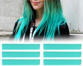 6 Best Temporary Mint Teal hair Dye for dark and light hair - Set of 6 | DIY Teal hair Chalk for easy and simple hair coloring at home