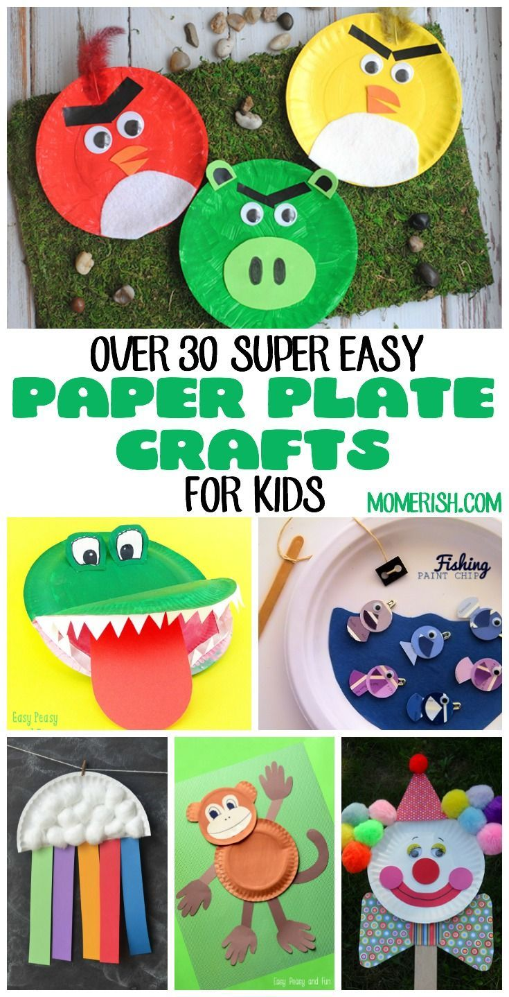 These super easy paper plate crafts for kids will keep your little ones busy! Use these in preschool classrooms for fun activities too! via @keciahambrick