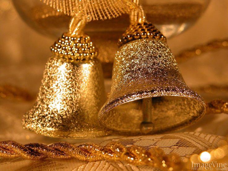 backgrounds for christmas golden bells