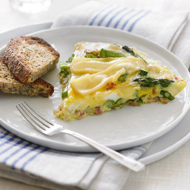 Omelette aux asperges, bacon et Le ChamPaître - Recettes - Fromages d'ici
