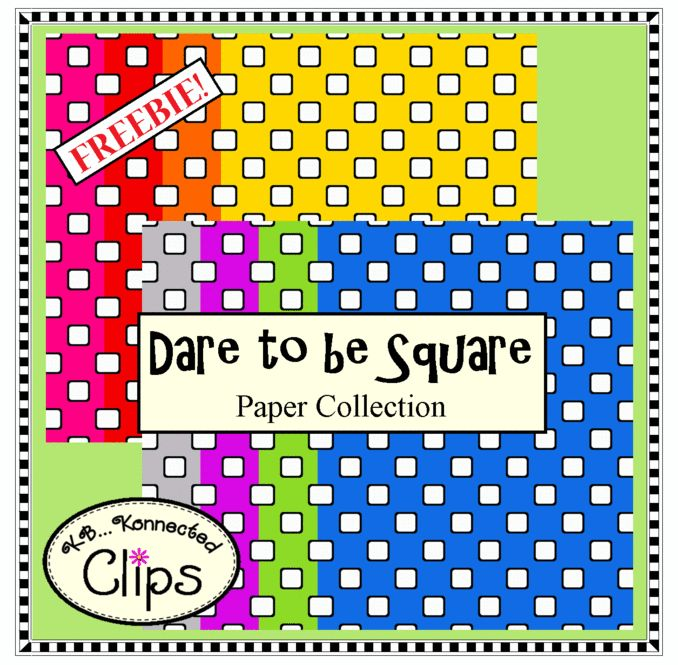 Freebie! Paper Collection http://www.teacherspayteachers.com/Product/Freebie-Dare-to-be-Square-Paper-Collection-1461391
